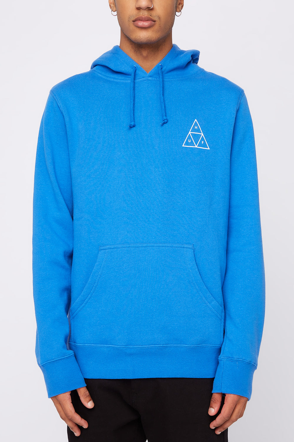 HUF Mens Triple Triangle Hoodie Blue