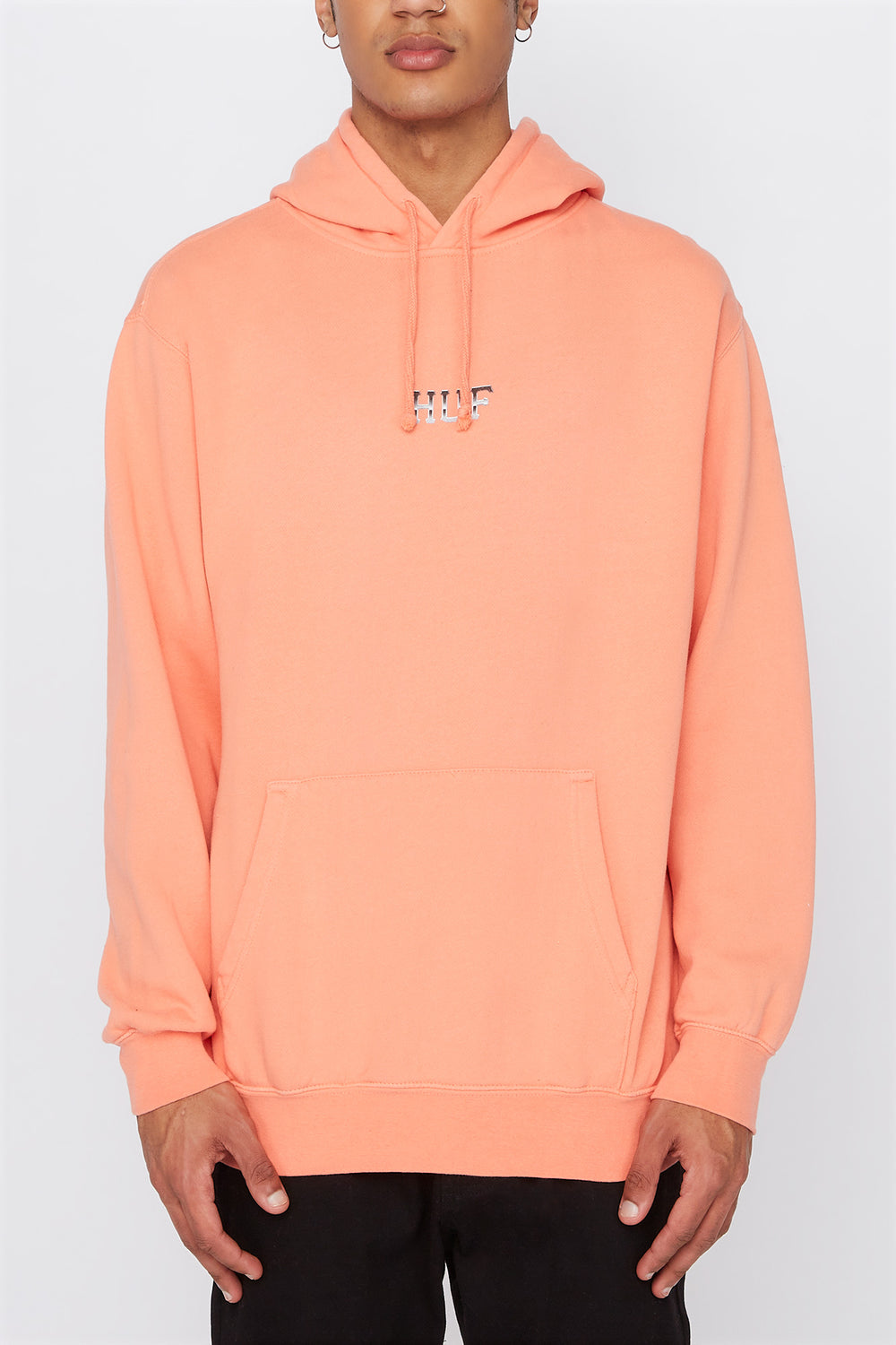HUF Mens Ember Rose Classic Pullover Hoodie Pink