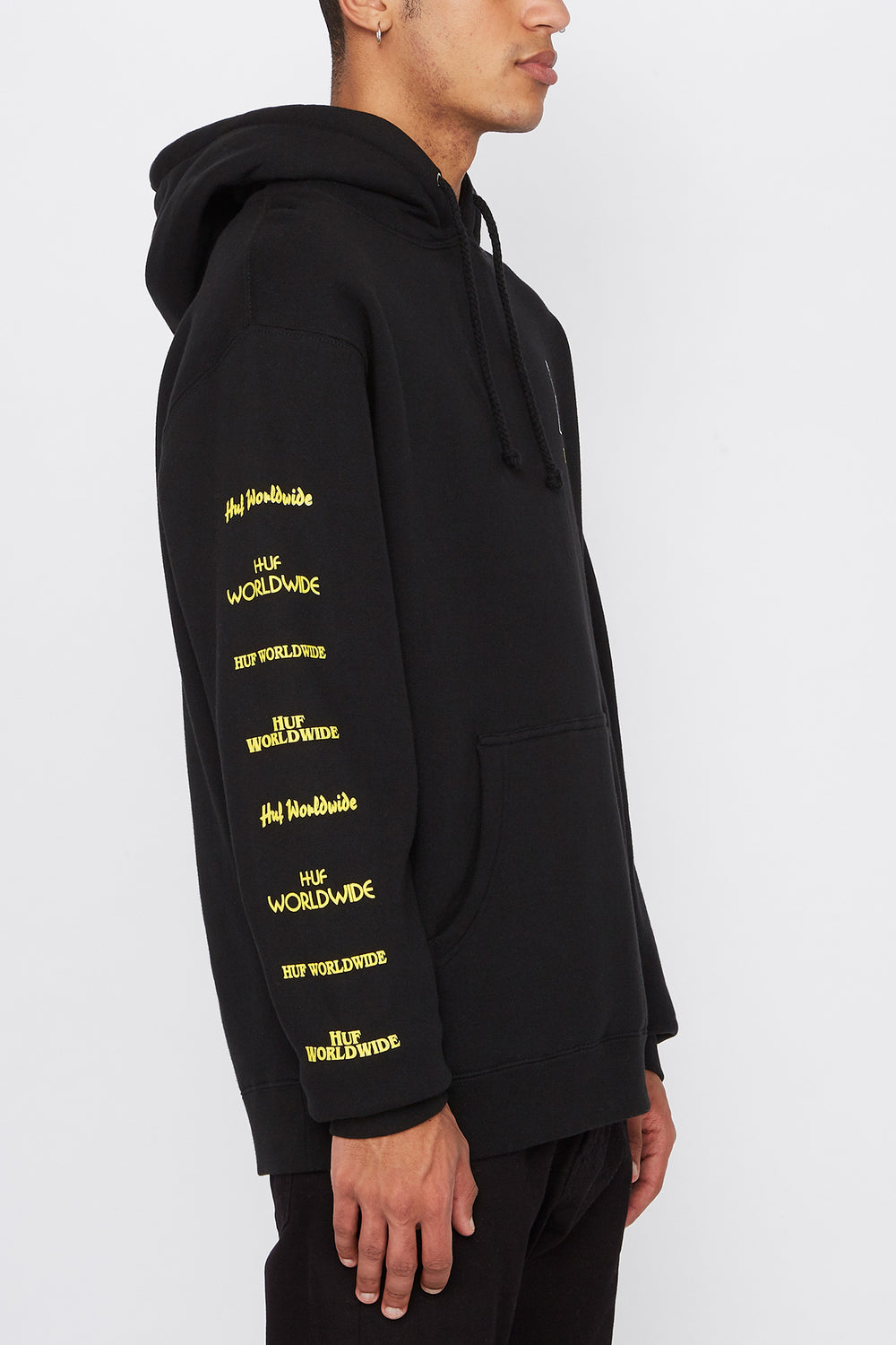HUF Mens Pulp Fiction Pullover Hoodie Black