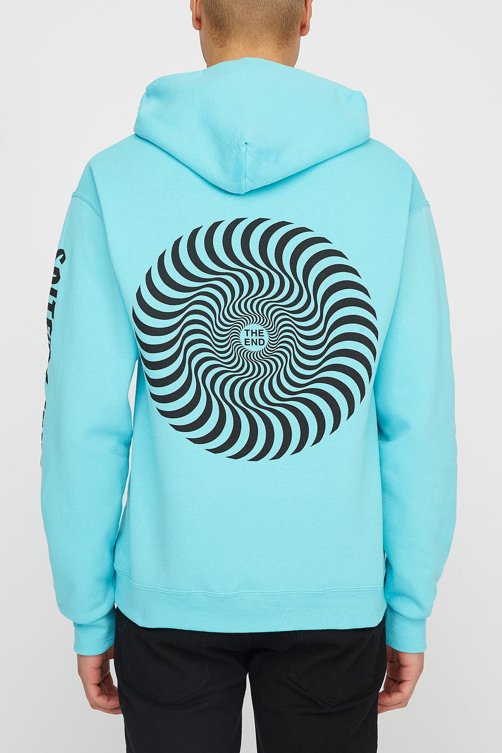 Spitfire Mens Classic Swirl Hoodie Turquoise