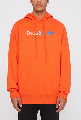 Crooks & Castles Mens Orange Hoodie