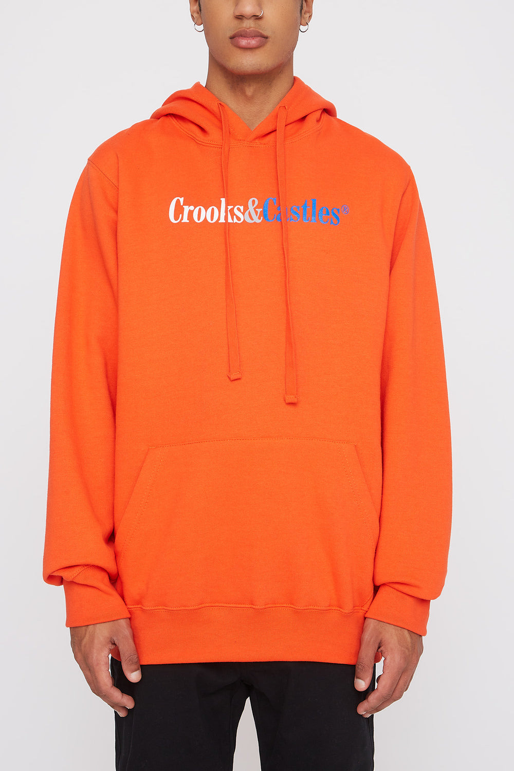 Crooks & Castles Mens Orange Hoodie Orange