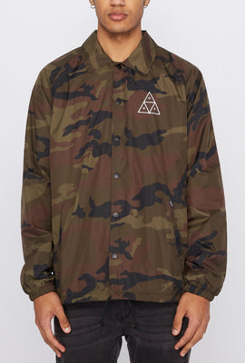 HUF Mens Camouflage Coach Jacket