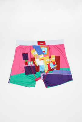 Undz Mens Geometric Simpsons Boxer Brief