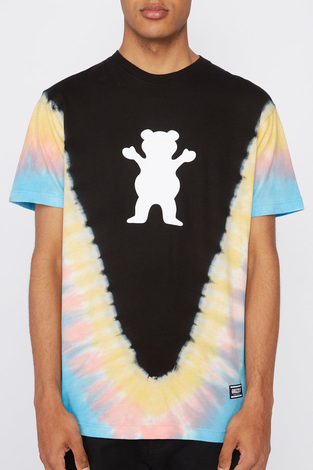 T-Shirt OG Bear Cosmique Grizzly Homme Jaune fluo