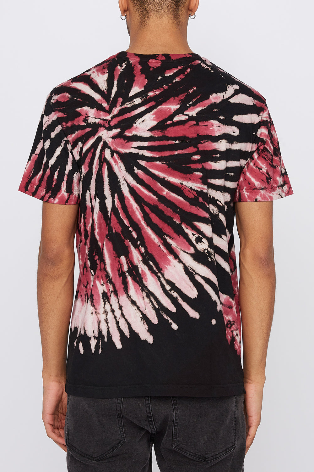 T-Shirt Tie-Dye Grizzly Homme Rouge