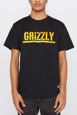 Grizzly Mens Gradient Logo T-Shirt