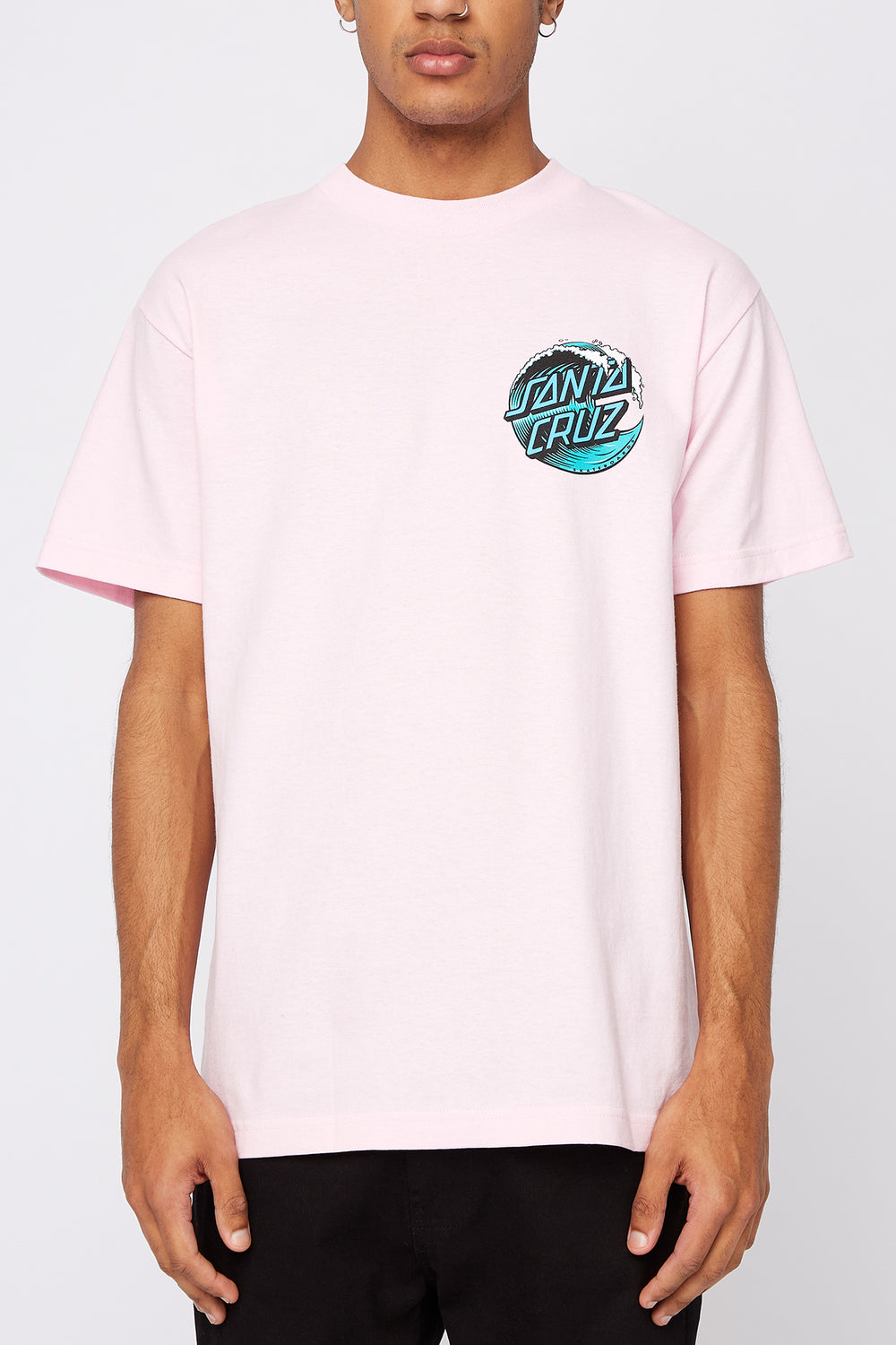 T-Shirt Rose Wave Dot Santa Cruz Homme Rose