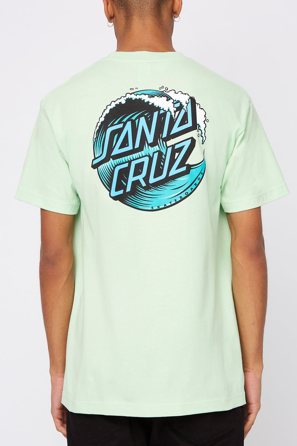 Santa Cruz Mens Wave Dot Mint Green T-Shirt Sage