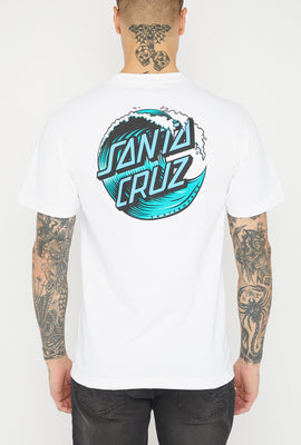 T-Shirt Logo Wave Santa Cruz