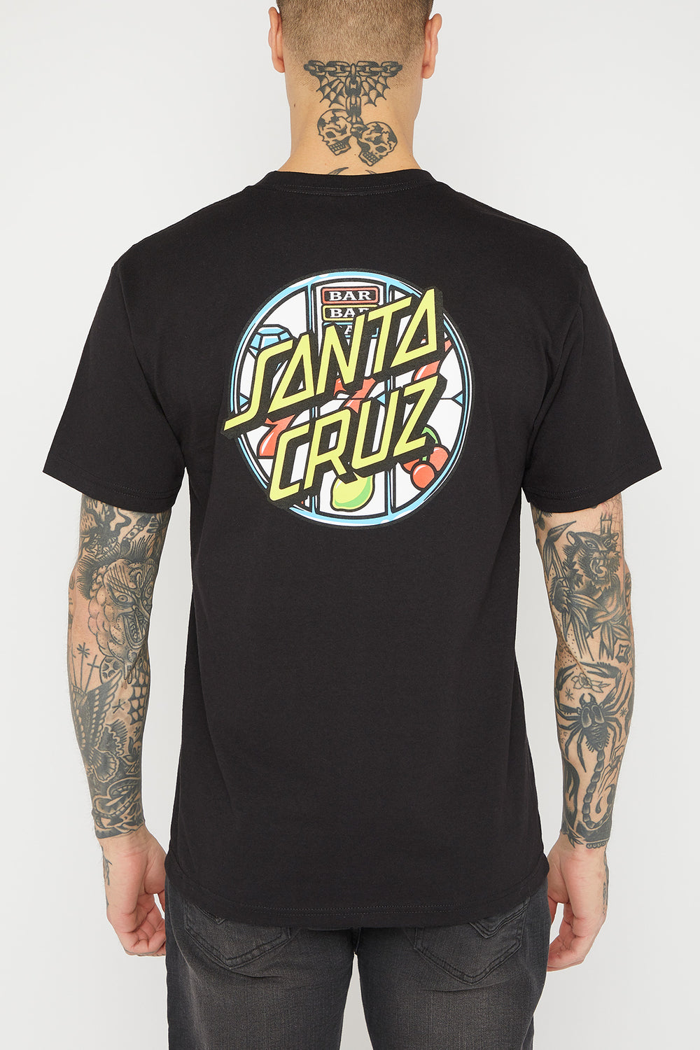 Santa Cruz Jackpot Dot Logo T-Shirt Black