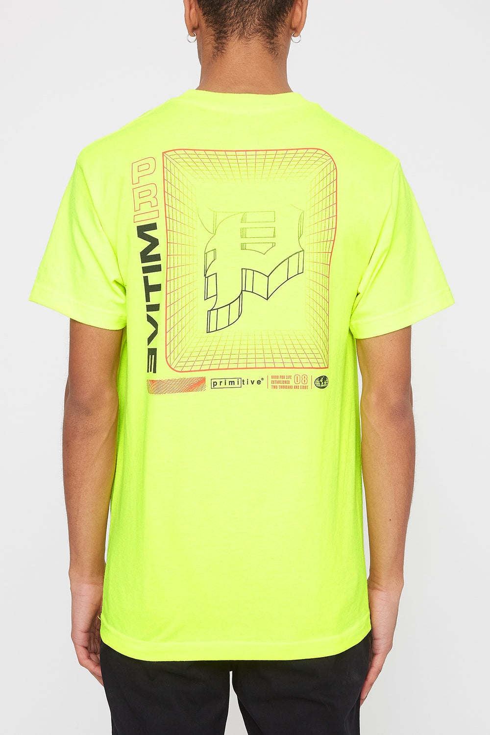 Primitive Mens Neon T-Shirt Yellow