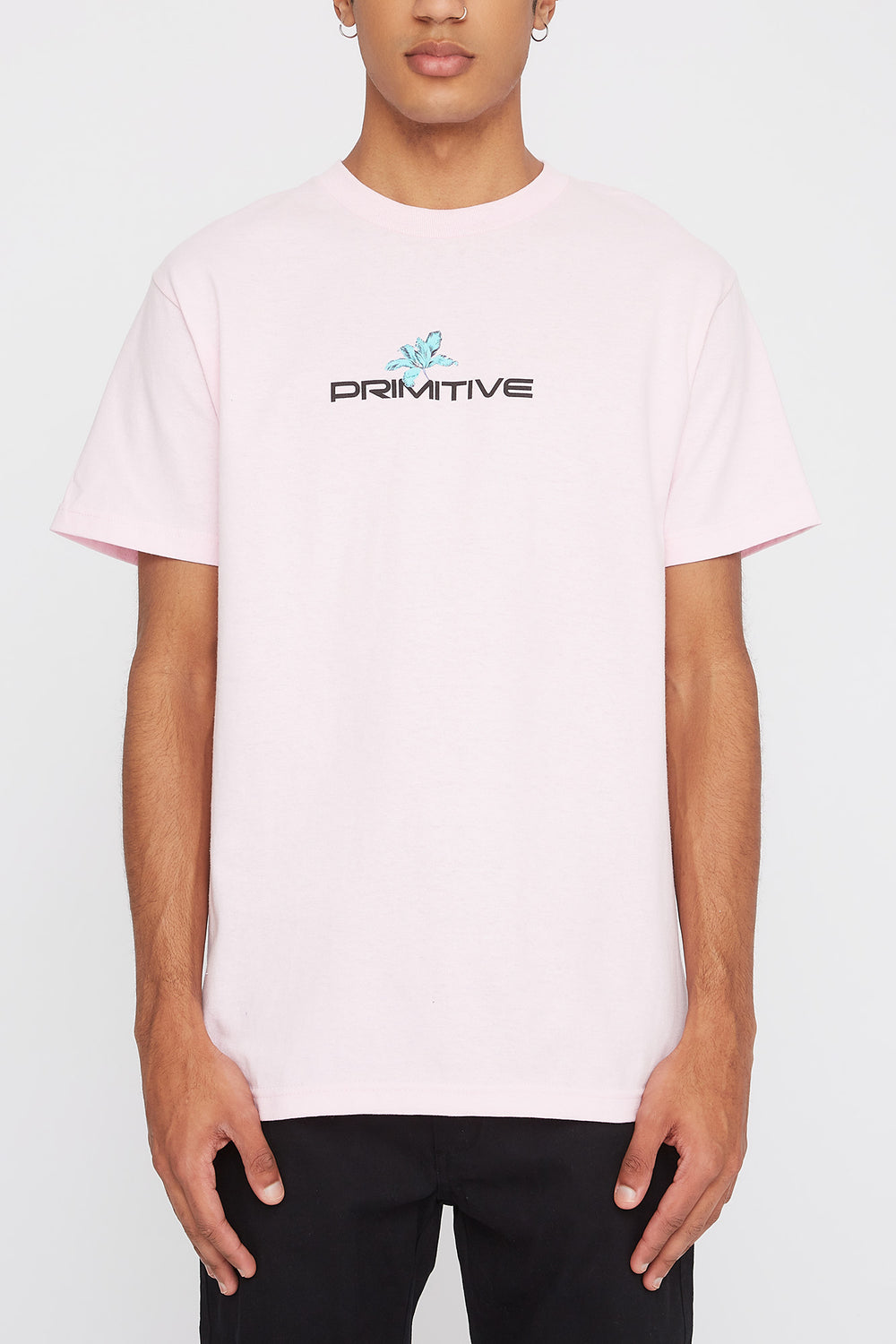 Primitive Mens Botanical Logo T-Shirt Pink