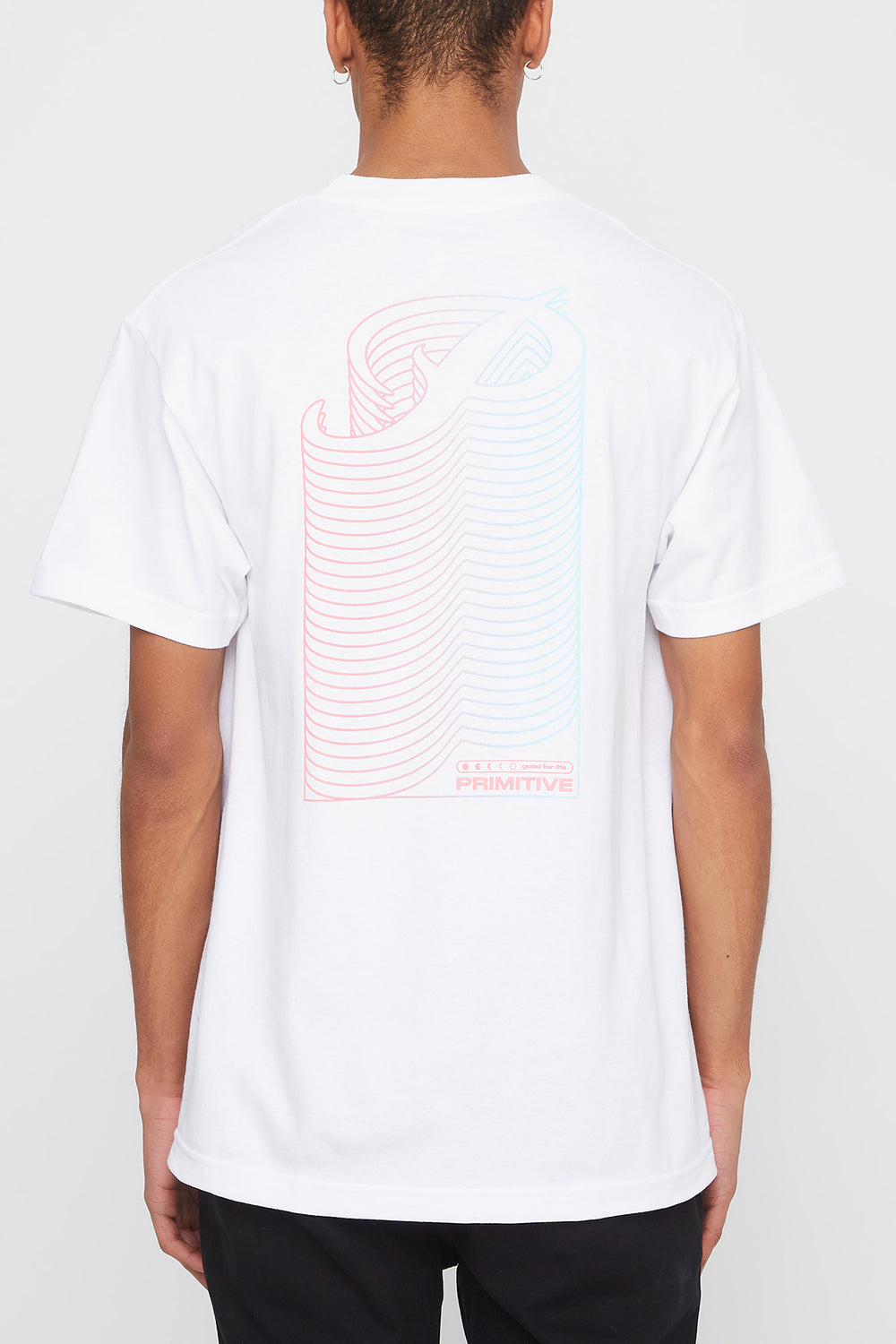 Primitive Mens Gradient Logo T-Shirt White
