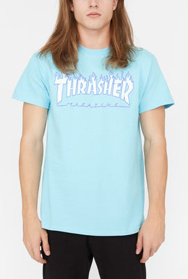 Thrasher Flame Logo Blue T-Shirt
