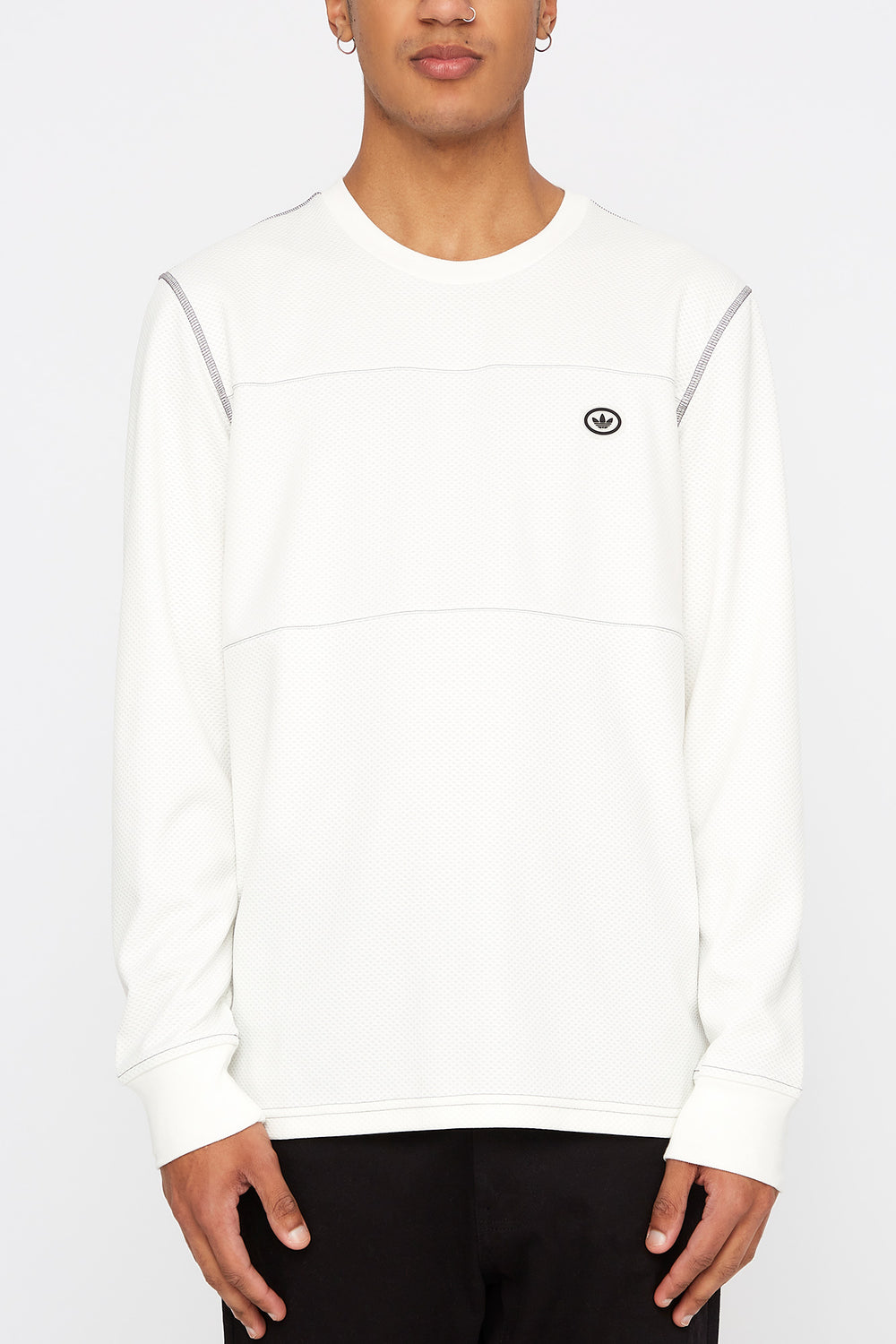Adidas Mens First Layer Long Sleeve Shirt White