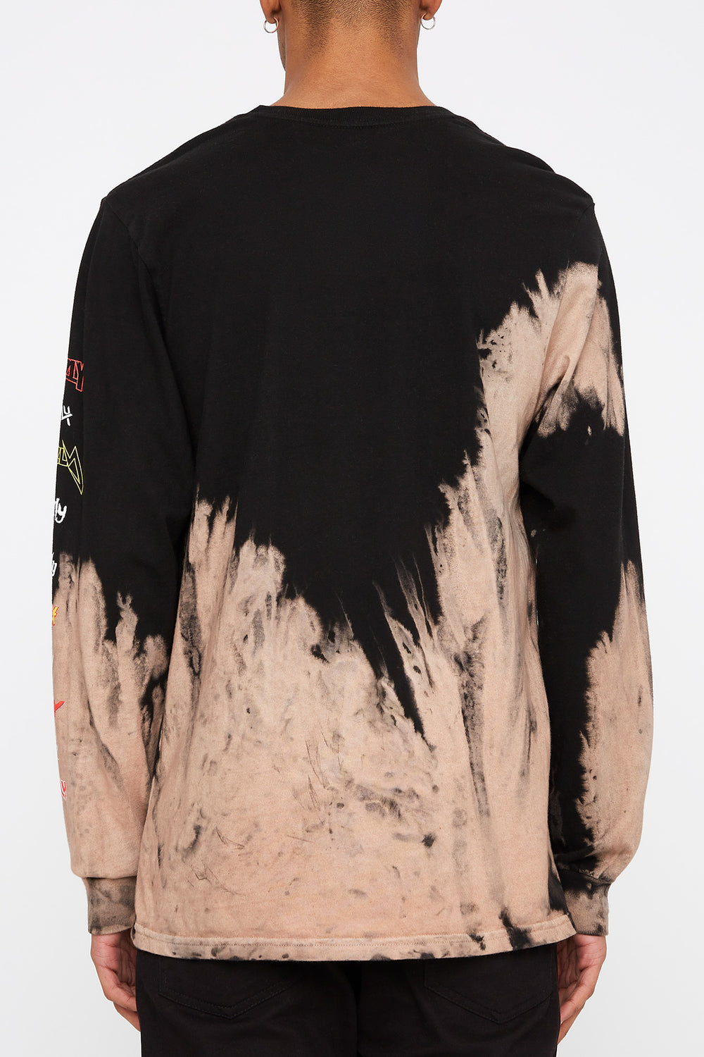 Grizzly Mens Tie-Dye Long Sleeve Shirt Black