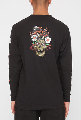 T-Shirt à Manches Longues Grizzly Skull Shroom