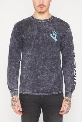 Santa Cruz Screaming Hand Mineral Black Long Sleeve Top