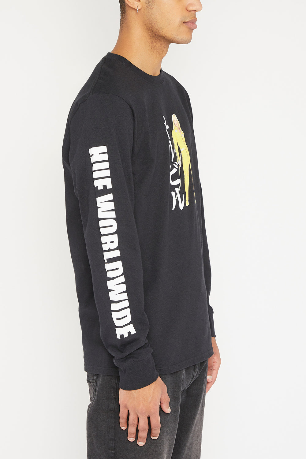 HUF Kill Bill Black Mamba Long Sleeve Top Black