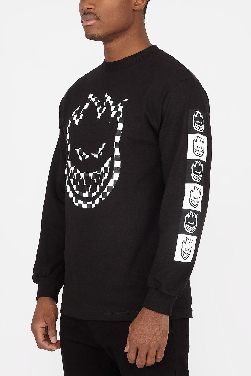 Spitfire Checkered Logo Long Sleeves Black