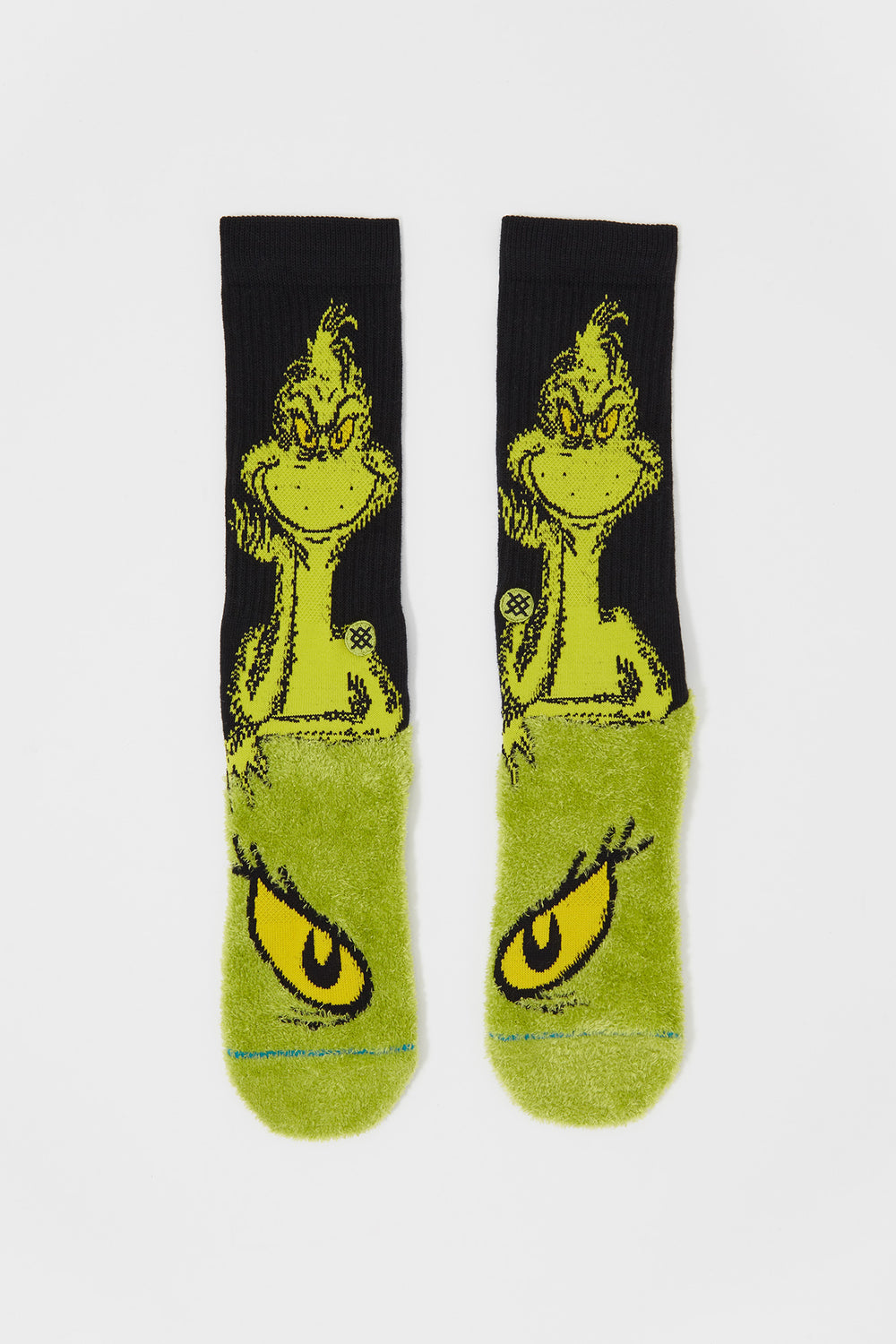 Stance Mens The Grinch Crew Socks Green