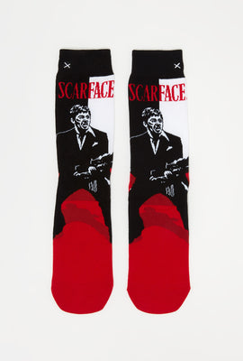 Odd Sox Mens Scarface Graphic Crew Socks