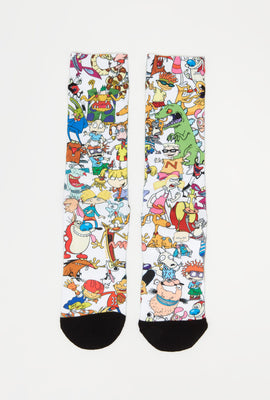 Odd Sox Mens Nickelodeon Sublimated Crew Socks
