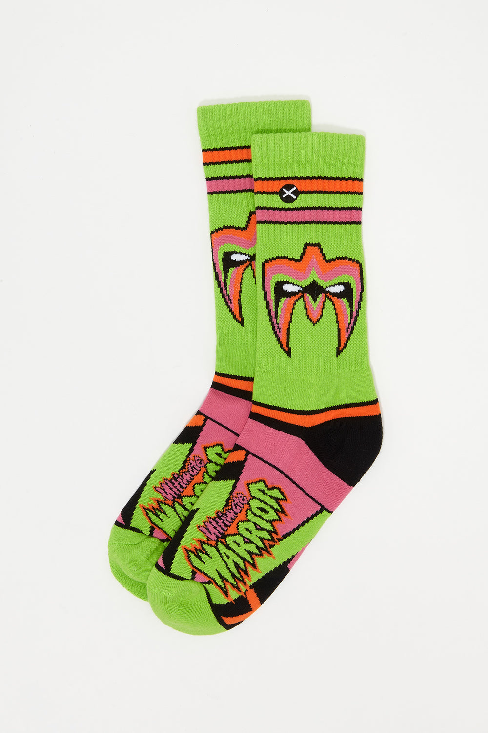 Odd Sox Mens WWF Ultimate Warrior Crew Socks Yellow