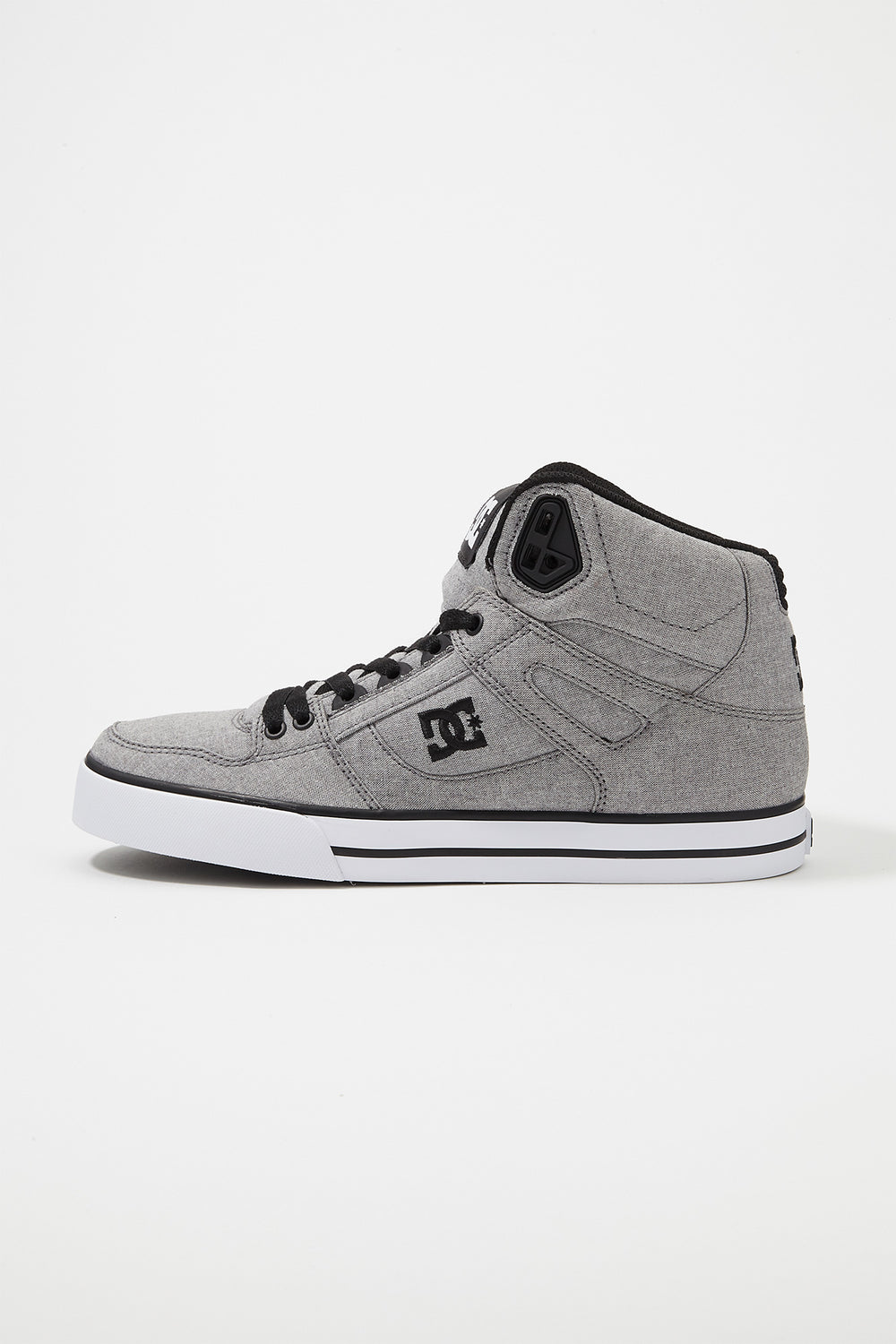 DC Mens Pure WC TX SE High-Top Shoes Heather Grey