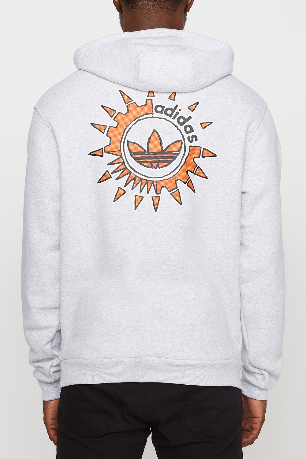 Adidas Mens SNT Originals Hoodie Light Grey