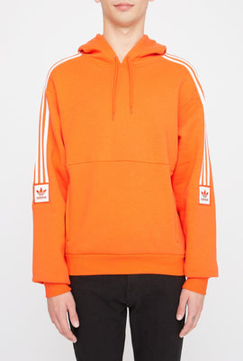 Adidas Mens Orange Modular Fleece Hoodie