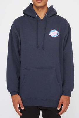 Santa Cruz Mens Broken Dot Navy Hoodie