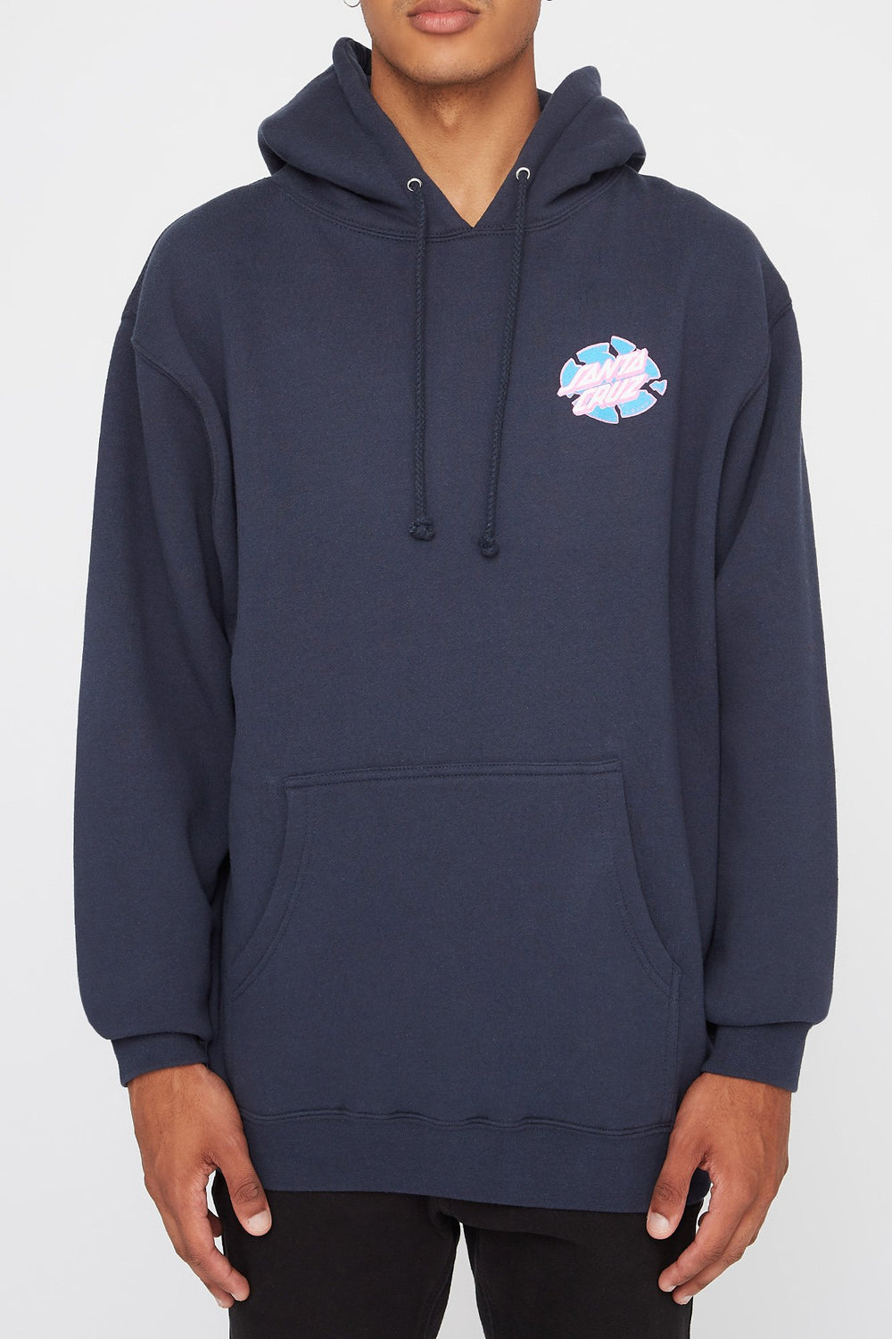 Santa Cruz Mens Broken Dot Navy Hoodie Navy