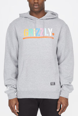 Grizzly Mens Colour Block Stamp Hoodie
