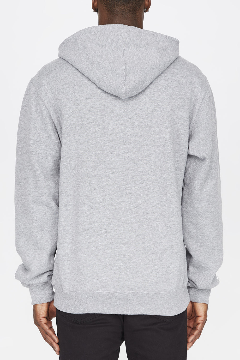 Grizzly Mens Colour Block Stamp Hoodie Heather Grey