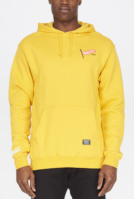 Grizzly Mens Flag Pole Yellow Hoodie