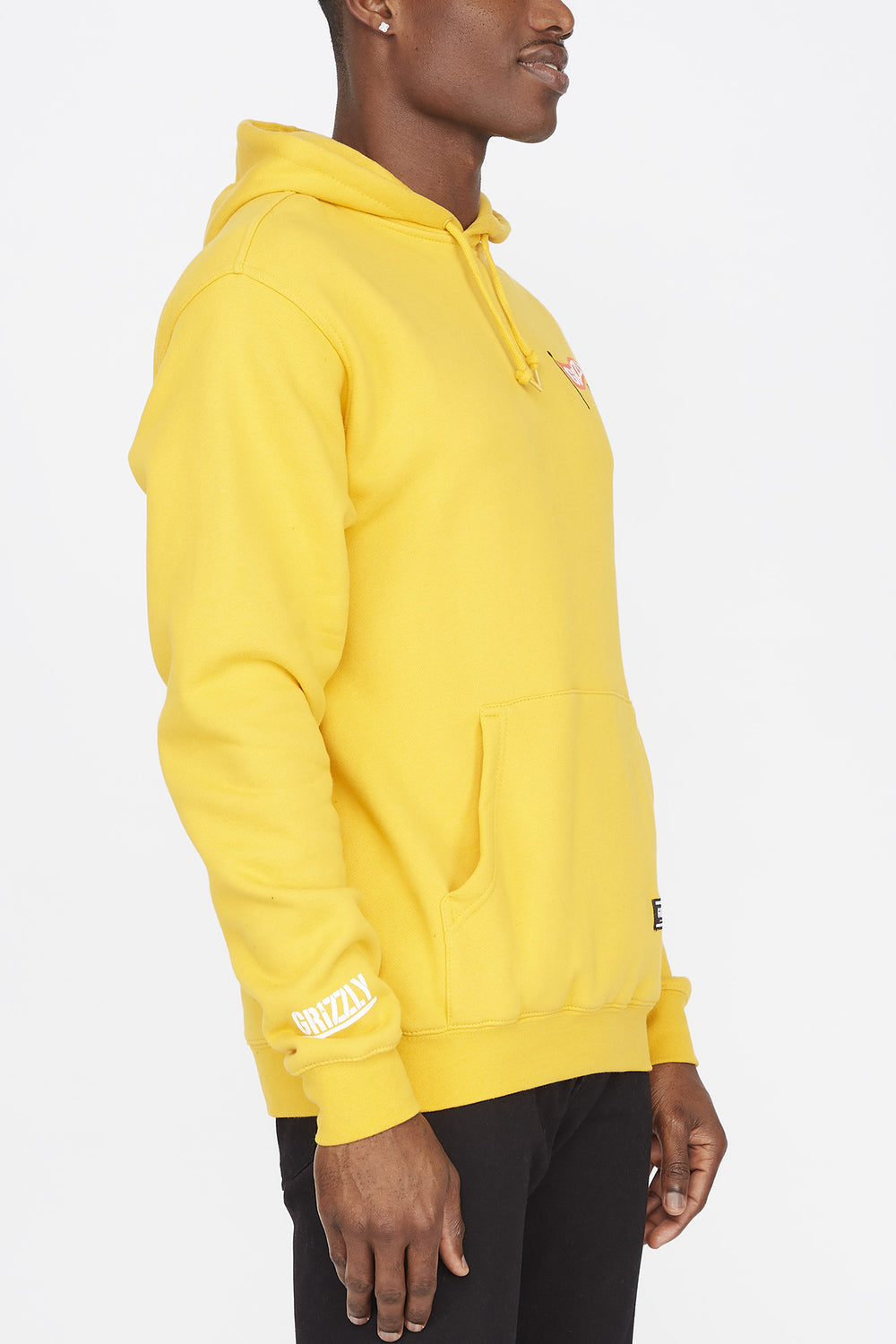 Grizzly Mens Flag Pole Yellow Hoodie Yellow