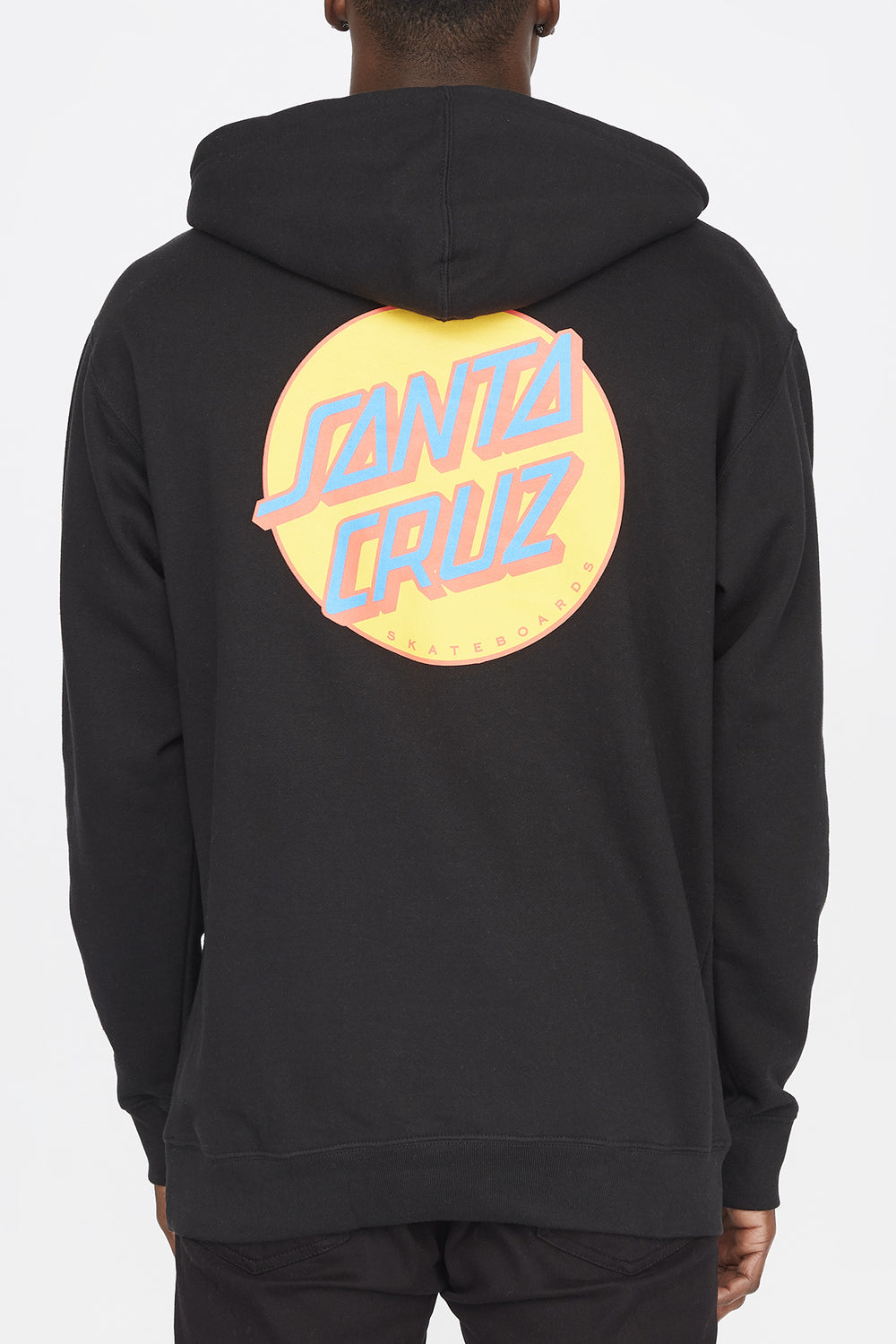 Santa Cruz Mens Other Dot Black Hoodie Black