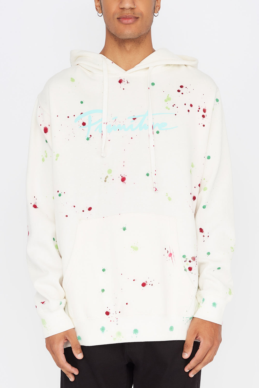 Primitive Nuevo Puff Washed Hoodie White