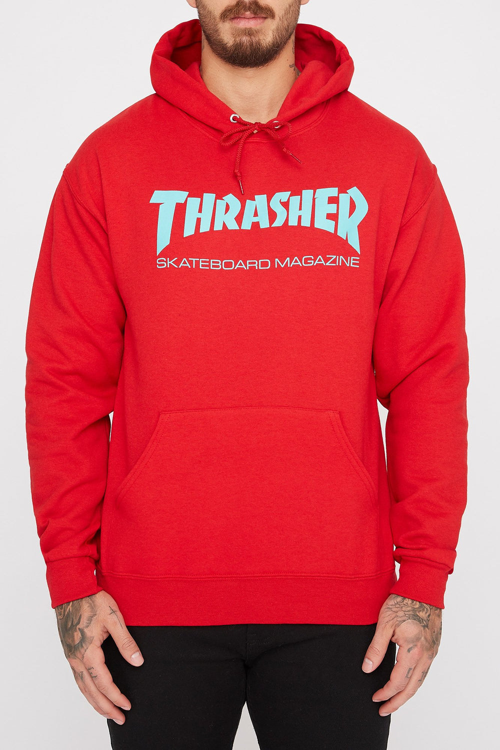 Haut à Capuchon Thrasher Skate Mag Rouge Homme Rouge