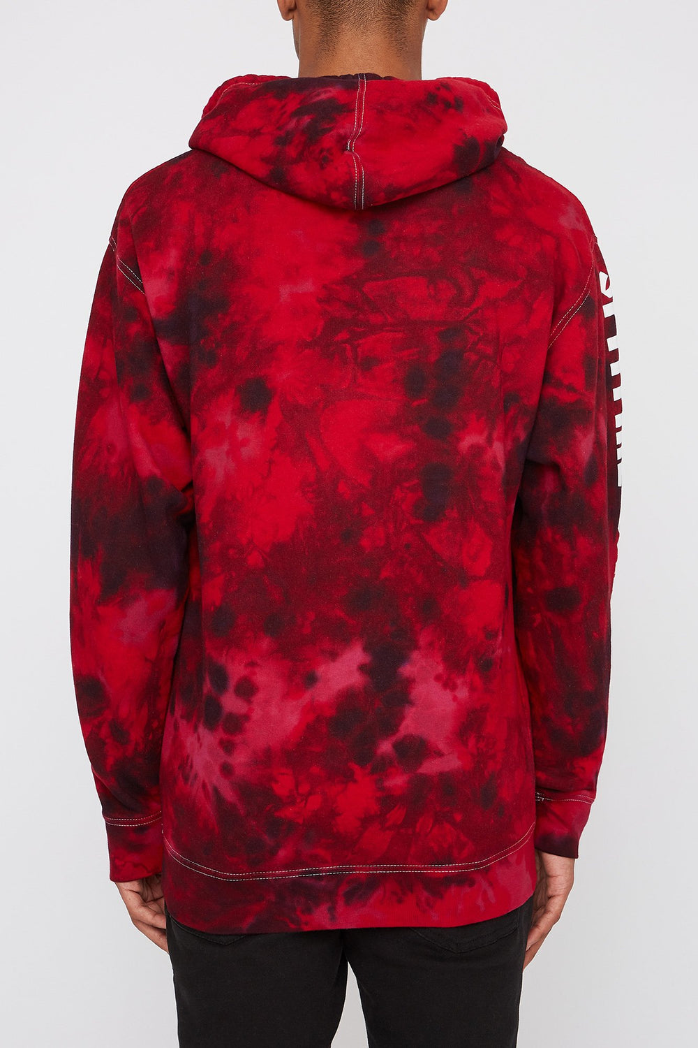 Spitfire Mens Red Tie-Dye Hoodie Red