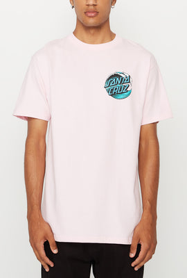 Santa Cruz Mens Wave Dot Pink T-Shirt