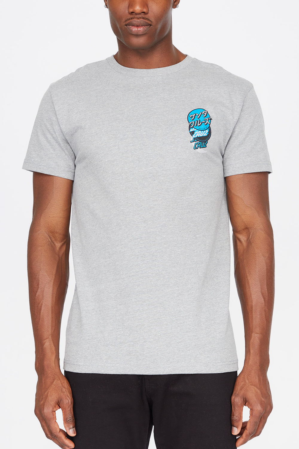 Santa Cruz Mens Group Dot T-Shirt Heather Grey