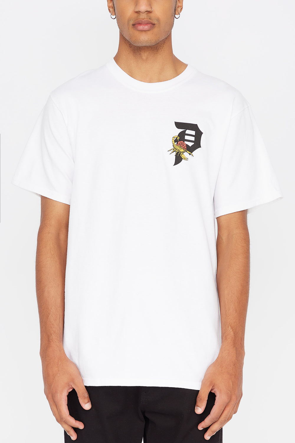 T-shirt Dirty P Scorpio Primitive Homme Blanc