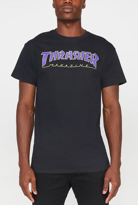 Thrasher Mens Logo Navy T-Shirt