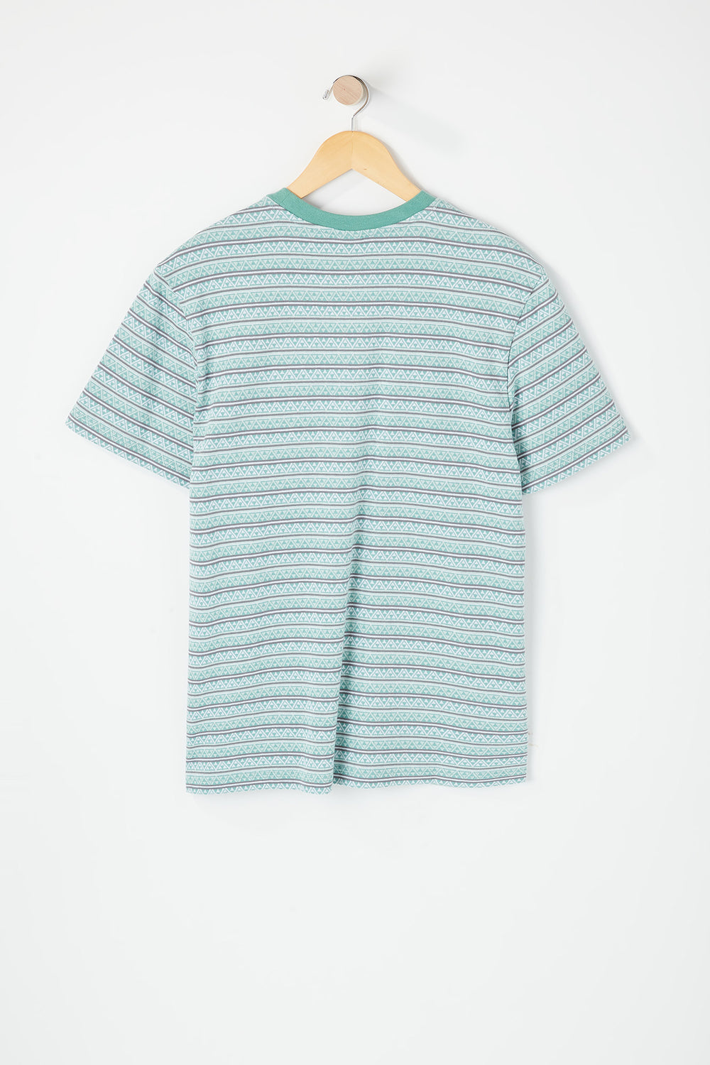 Huf Mens Striped T-Shirt Light Blue