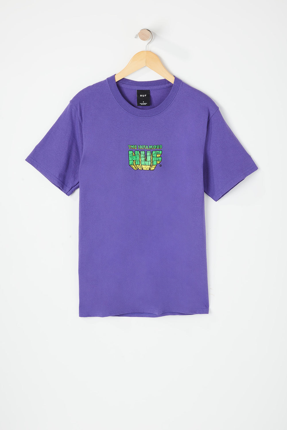 Mens Infamous Huf T-Shirt Purple