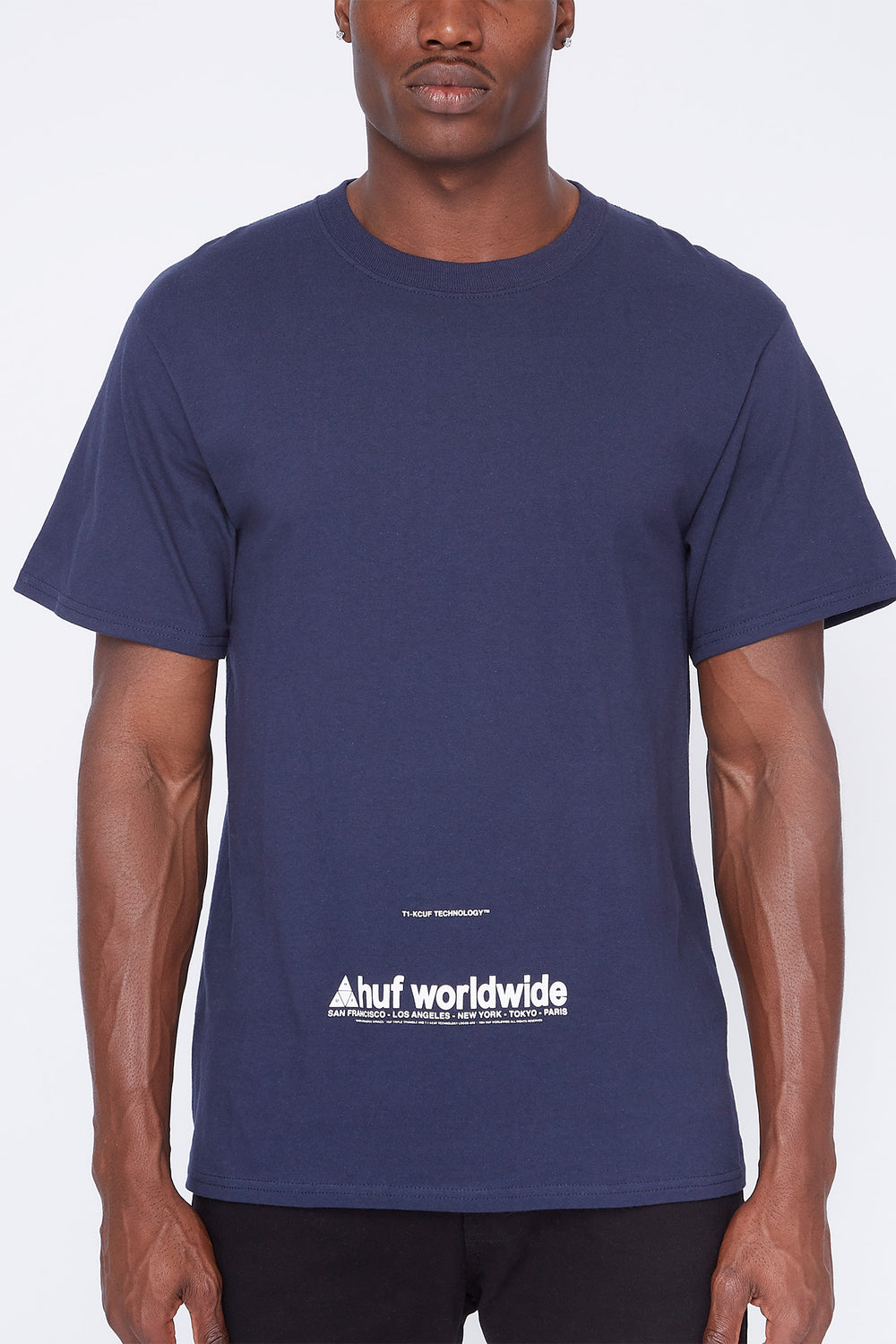 Huf Taking Control T-Shirt Navy