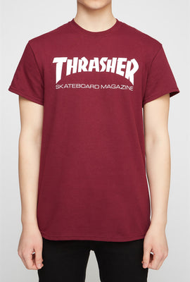 Thrasher Mens Burgundy T-Shirt